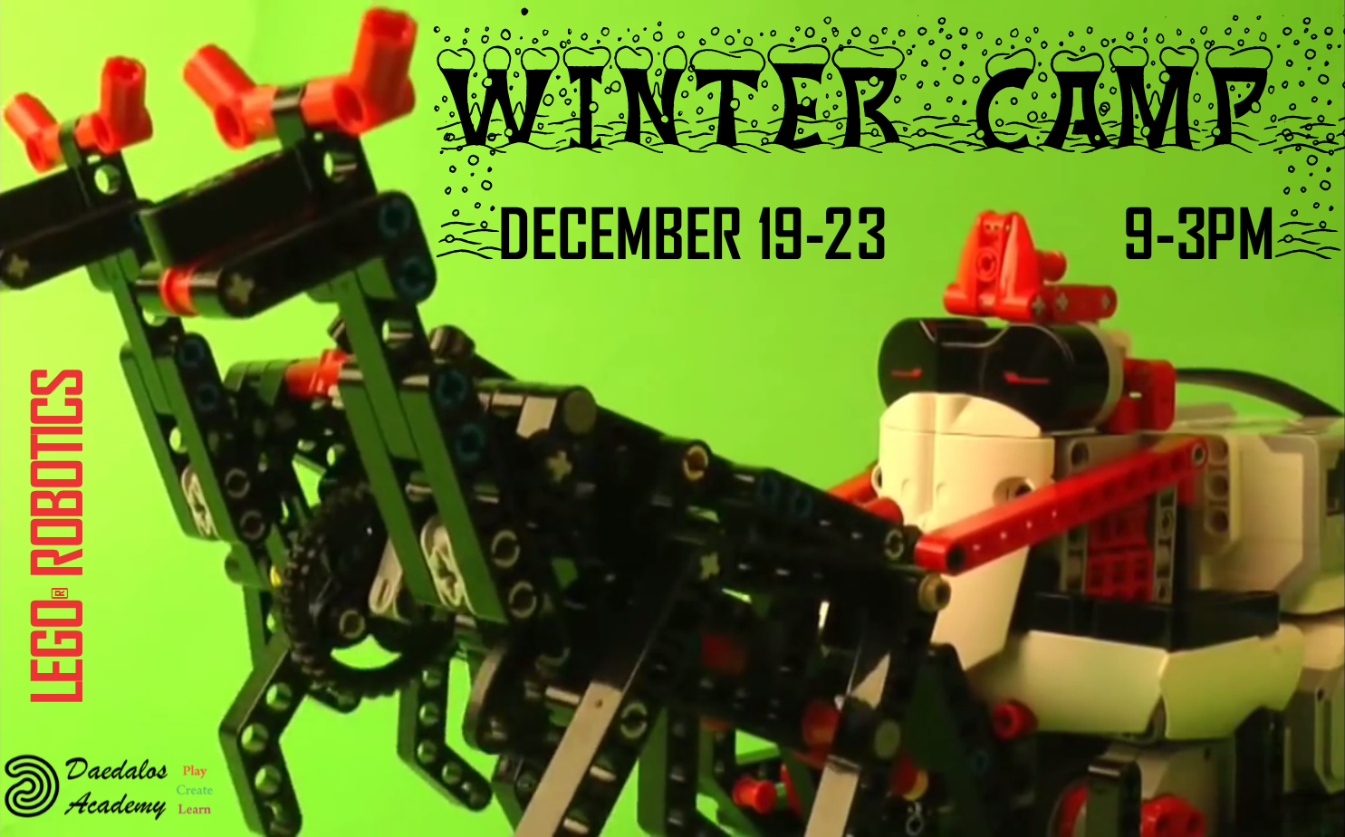 New Winter LEGO Robotics Camp Now Open – Dec. 19th-23rd, 2016 at UBC