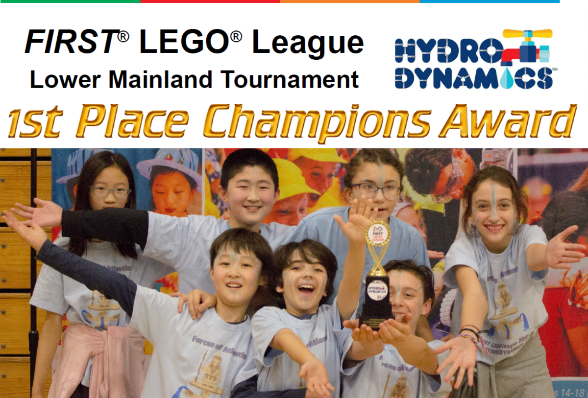 Our team wins 1st Place Champions Award at Robotics Tournament in Surrey, BC