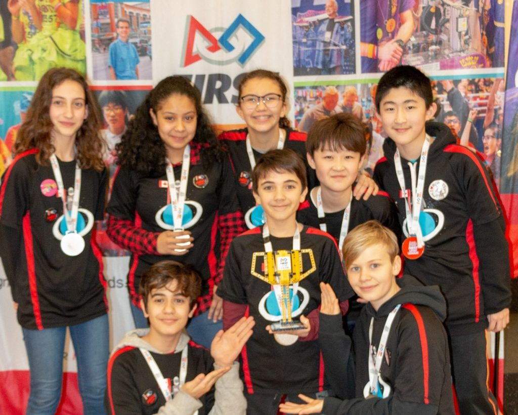 Forces of the Galaxy Team #33968, from left to right, top to bottom: Iokasti, Paola, Lulu, Kyoungjoo, Kevin, Masiha, David, Conner.